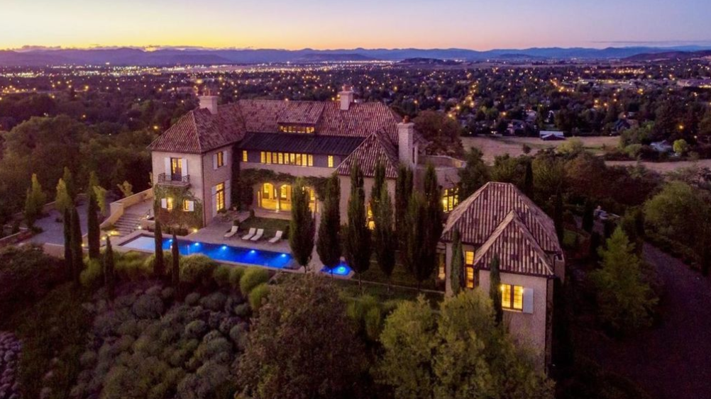 3 95 Million Mediterranean Hilltop Mansion In Medford Or Homes Of The Rich