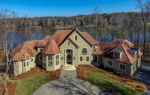 Lakefront Stucco Mansion In Greensboro, NC