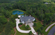 $2.7 Million Colonial Home In Durham, NC With Private Pond