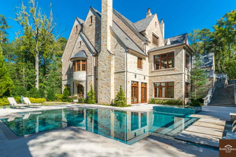 16 000 Square Foot Stone Mansion In Atlanta Ga Homes Of