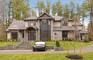 $5.495 Million Newly Built Stone & Shingle Home In Upper Brookville, NY