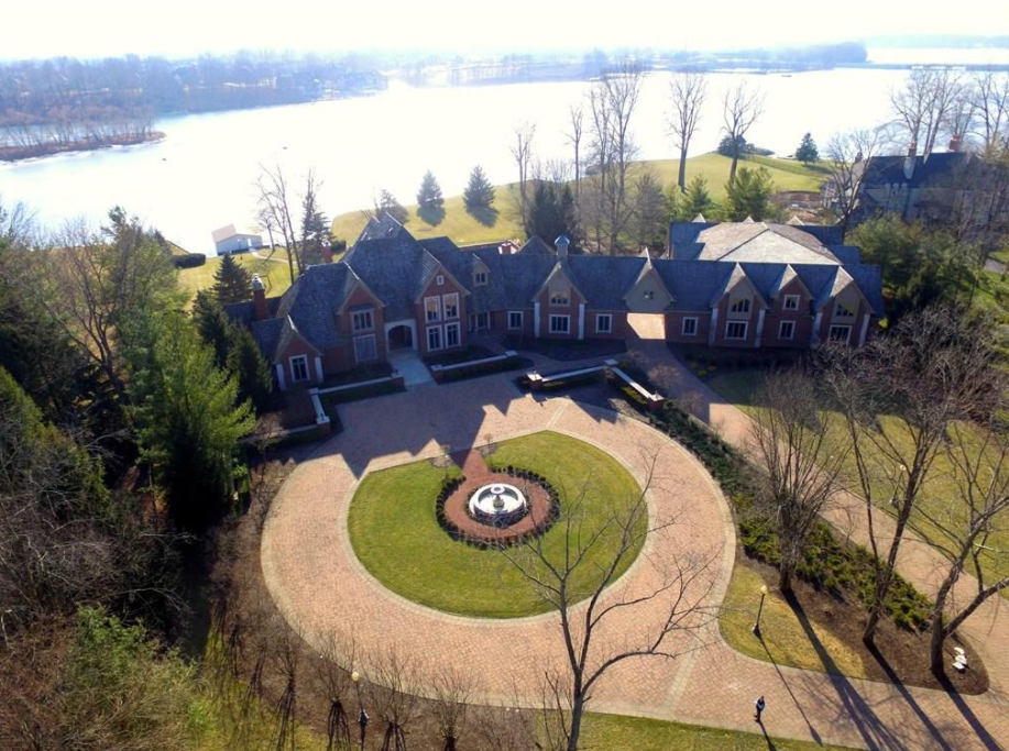 Waterfront Mansion In Fishers, IN With 34 Car Garage