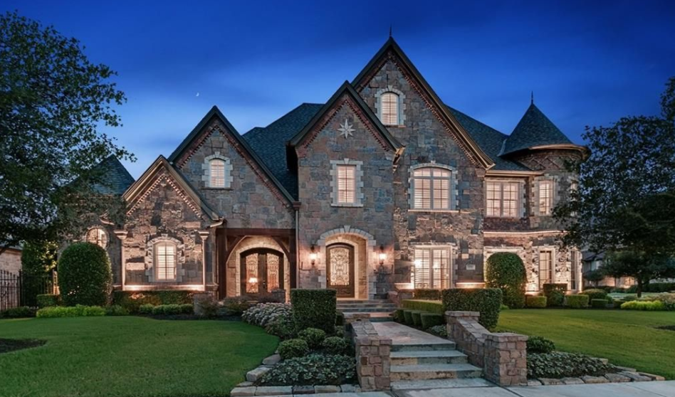 European inspired brick stone home in colleyville tx for Texas stone homes
