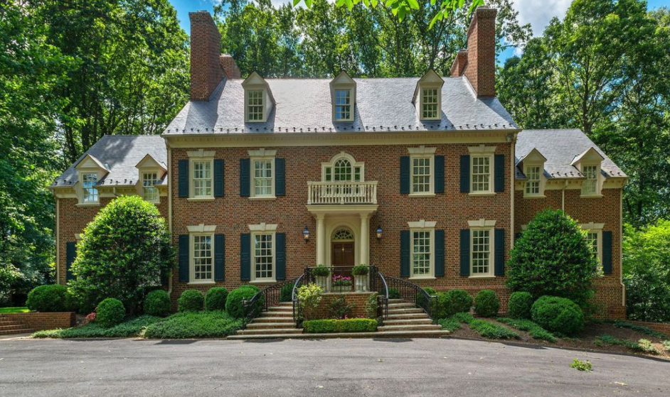 2 2 million brick colonial home in mclean va homes of for Colonial brick