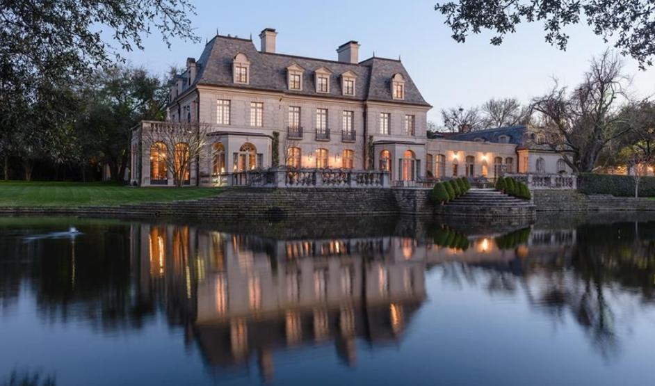 Exquisite French Estate In Dallas, TX With Private Lake