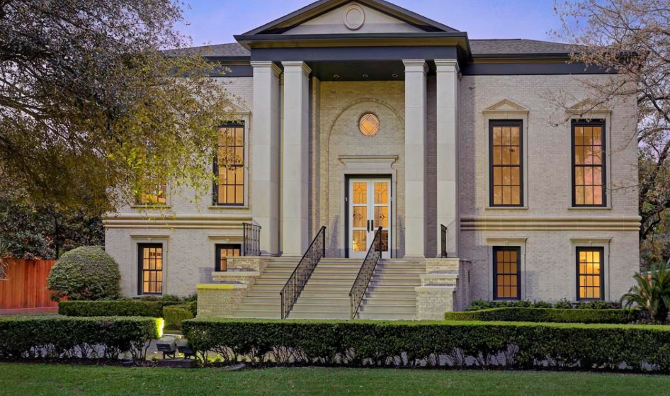 $4.95 Million Palladian Brick Home In Houston, TX