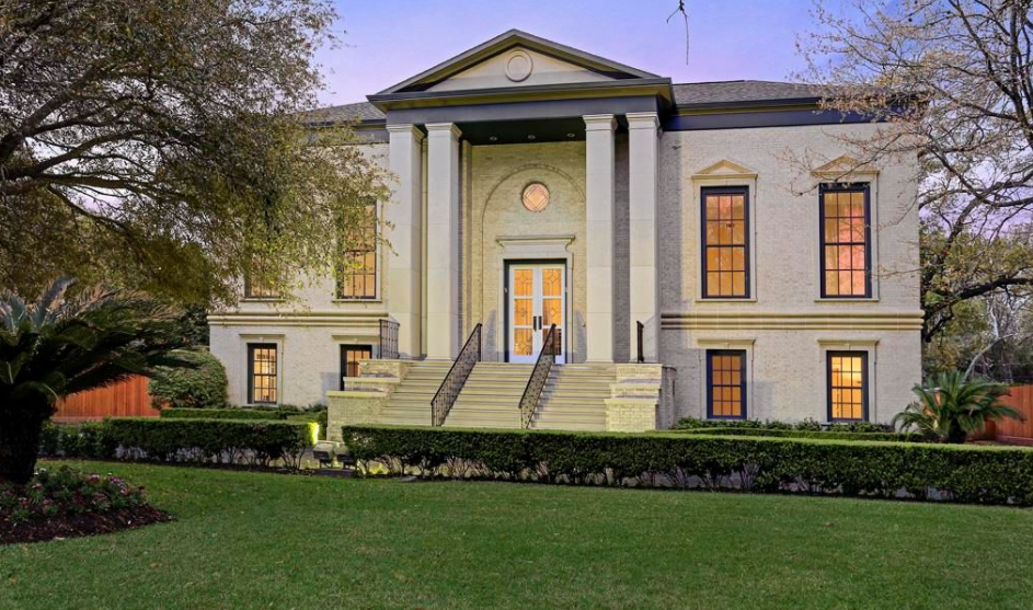 Million Palladian Brick Home In Houston Tx Homes