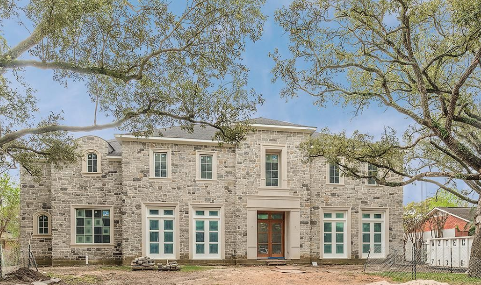 $3.7 Million Newly Built Stone Home In Houston, TX
