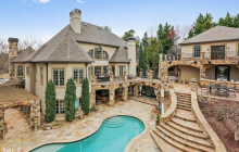 Stone & Stucco Home In Dacula, GA With Detached Entertainment Building