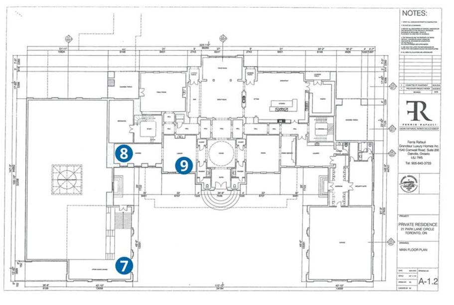 Drake building 21 000 square foot mega mansion in toronto for Toronto house plans