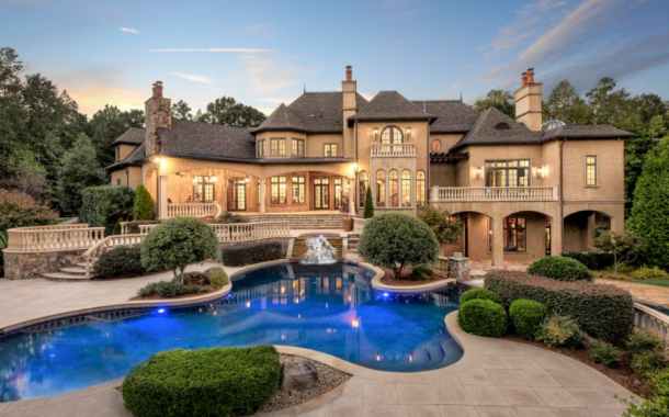 $3.795 Million Stone & Stucco Mansion In Waxhaw, NC