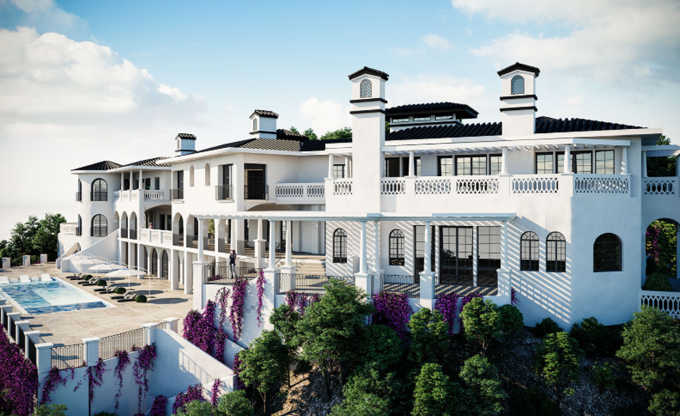 $75 Million Newly Built 40000 Square Foot Mega Mansion In Bel Air CA Homes of the Rich - Duplex Houses