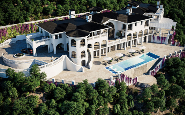 $75 Million Newly Built 40,000 Square Foot Mega Mansion In Bel Air, CA