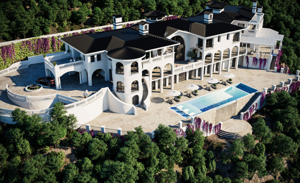 75 Million Newly Built 40 000 Square Foot Mega Mansion In