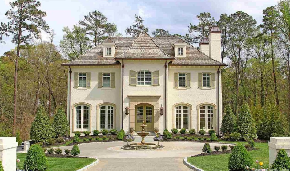 Million french style brick home in raleigh nc for French style house