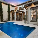 Rear Exterior with Pool
