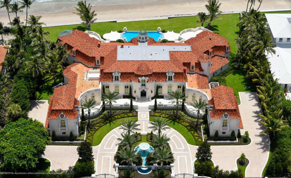 4 waterfront mega mansions currently for sale in florida for Florida estates for sale