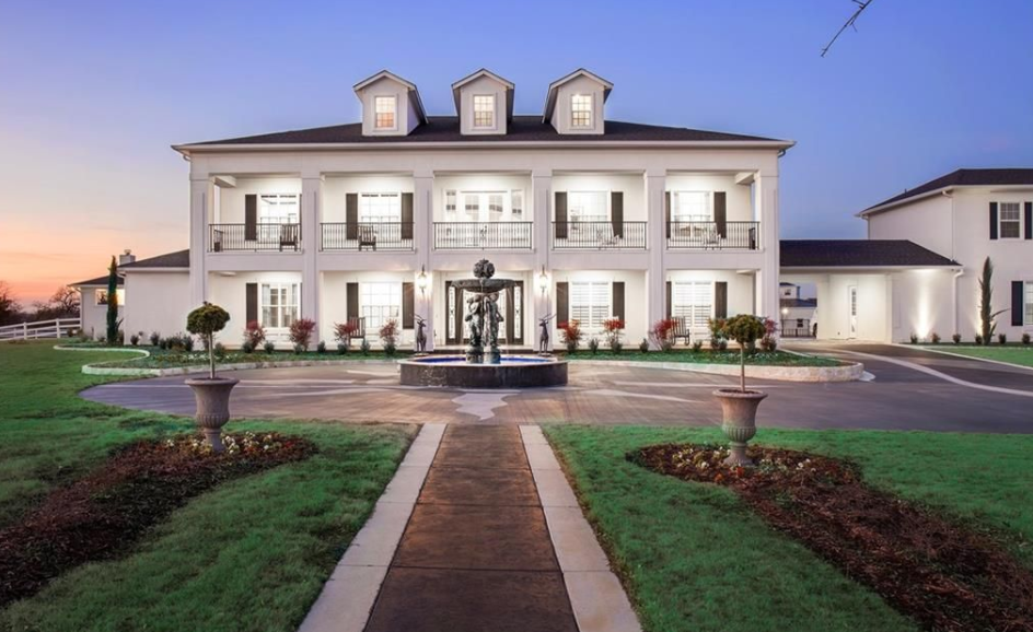 20 000 square foot plantation style mansion in pilot point for Modern plantation style homes