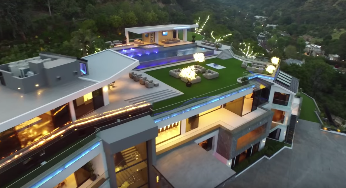 100 Million Newly Built Modern Mega Mansion In Bel Air