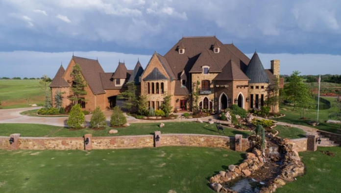 3 million brick stone mansion in edmond ok homes of for House builders in oklahoma