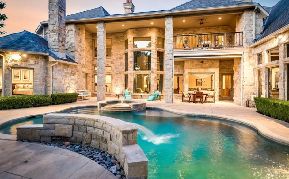 2 5 Million French Style Stone Mansion In Plano Tx
