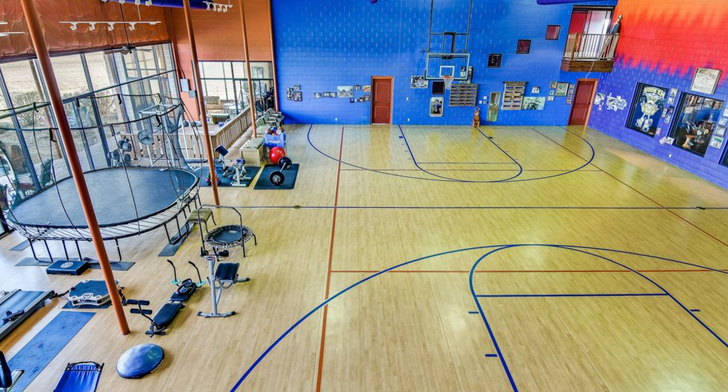 Home in boerne tx designed around an indoor basketball Indoor half court basketball cost