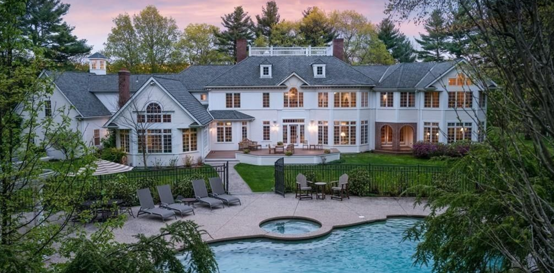 5 3 Million Colonial Mansion In Dover Ma Homes Of The Rich