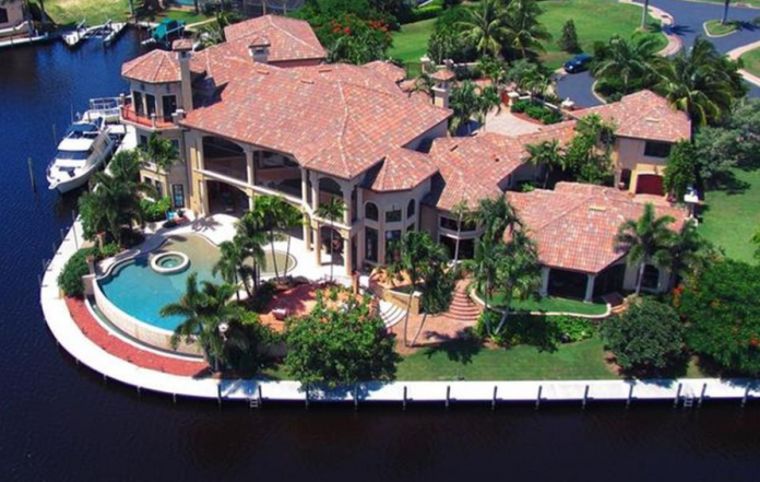 13 000 Square Foot Waterfront Mansion In Cape Coral Fl