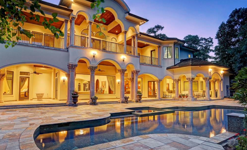 13 000 Square Foot Mediterranean Style Mansion In Houston