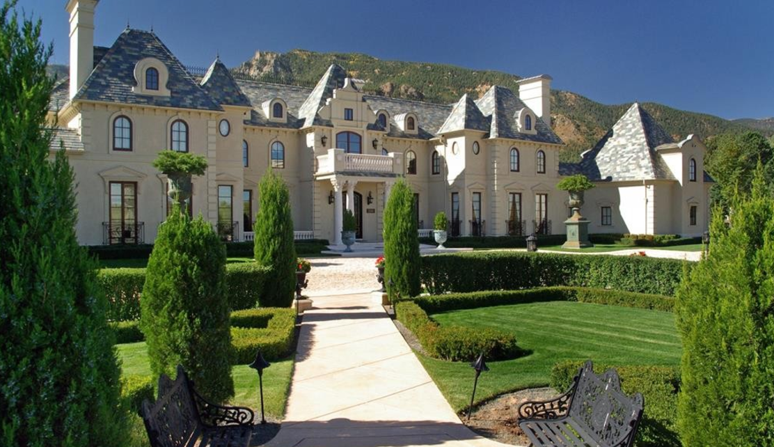 Exquisite french style mansion in colorado springs co for Colorado style house plans