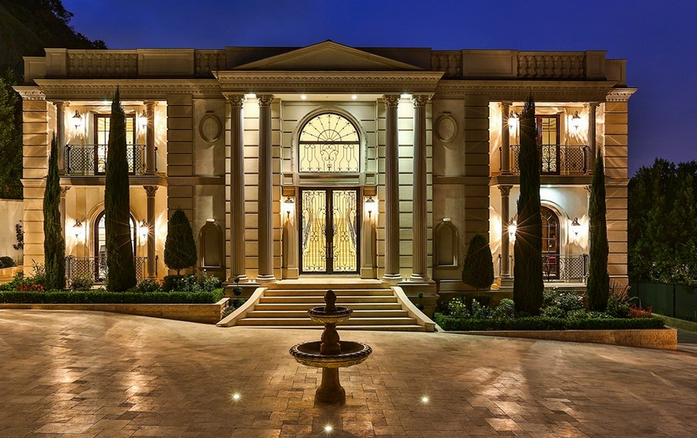 Neoclassical style estate in bel air ca re listed homes for Neoclassic house