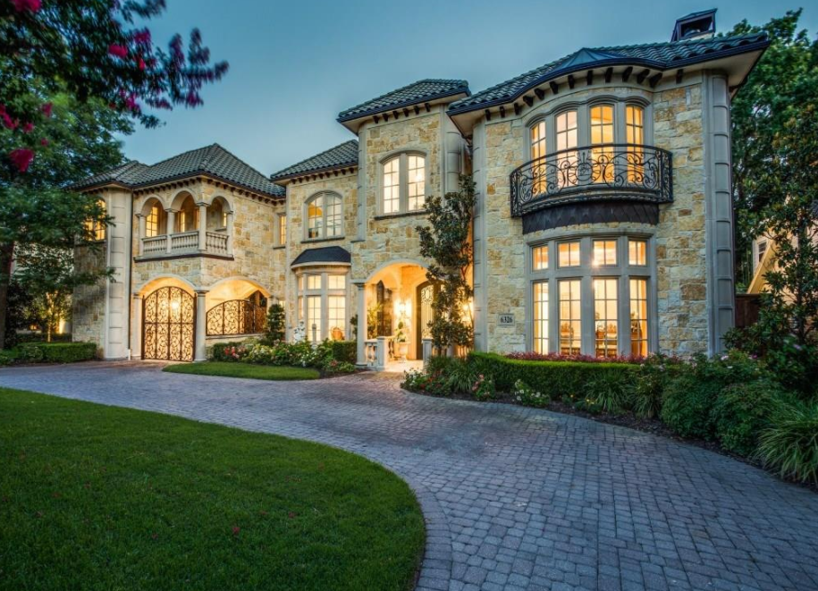 11 000 square foot stone mansion in dallas tx homes of for Mansions in dallas tx