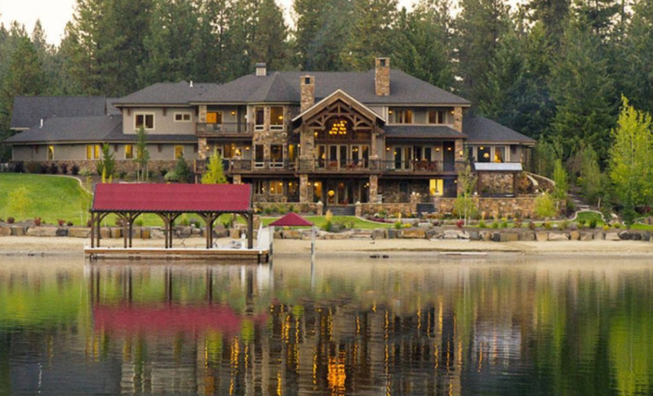 10 000 Square Foot Riverfront Mansion In Post Falls Id