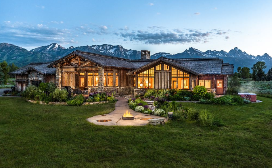 3 995 Million Wood Amp Stone Home In Jackson Wy Homes Of