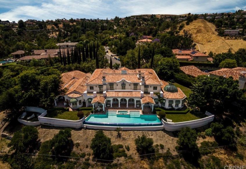 11000 Square Foot Mediterranean Style Mansion In Hidden Hills CA