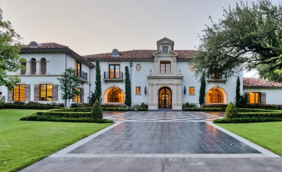 10 000 square foot italian renaissance style mansion in for Mansions in dallas tx