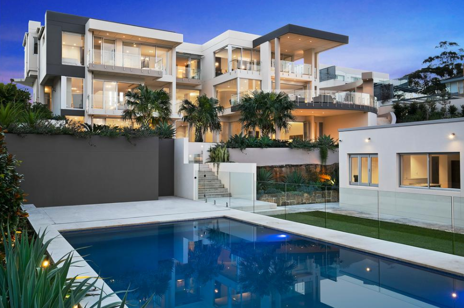Contemporary Style Waterfront Mansion In New South Wales Australia Floor Plans Homes Of The