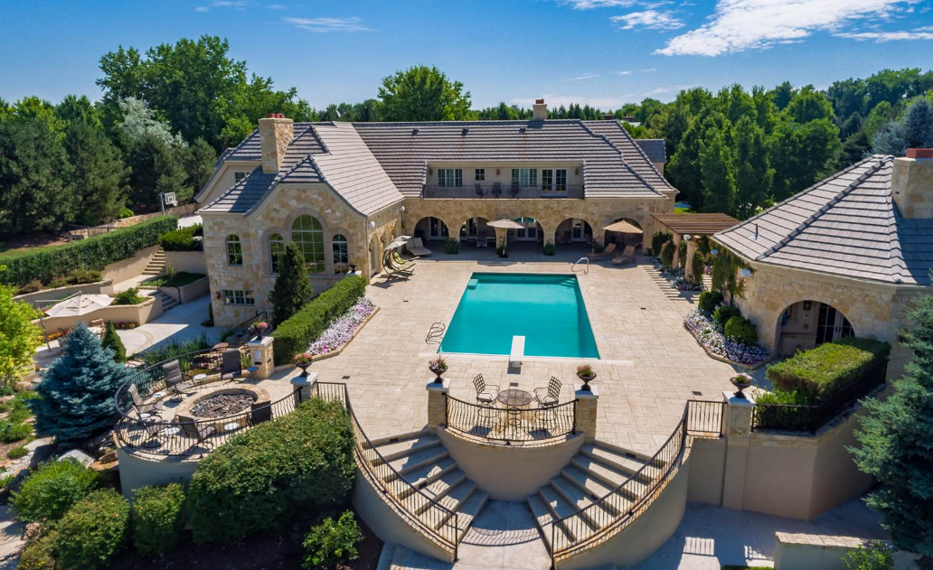 12,000 Square Foot Stone & Stucco Mansion In Cherry Hills ...