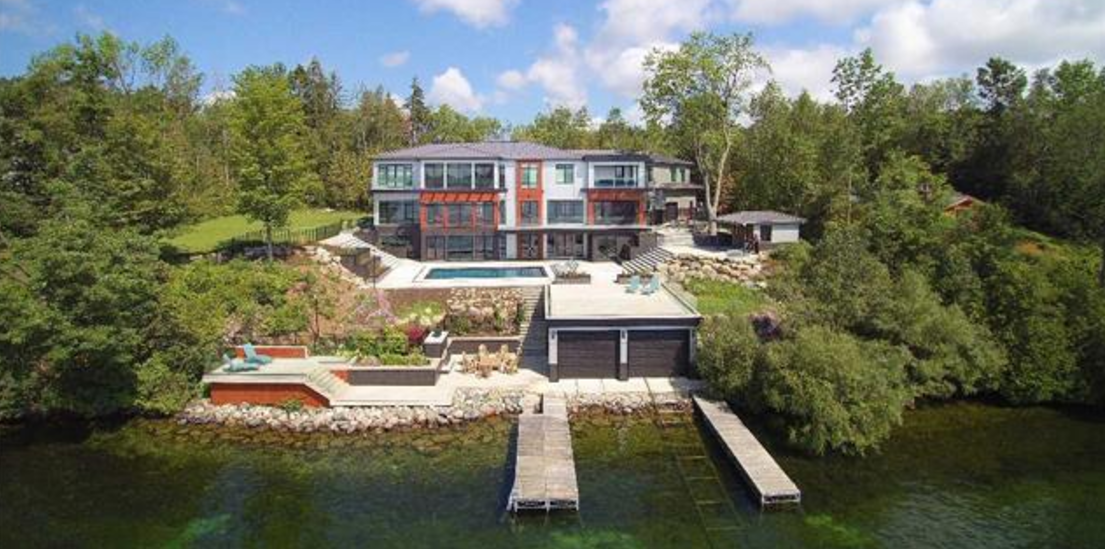 Newly Built Contemporary Style Waterfront Mansion In