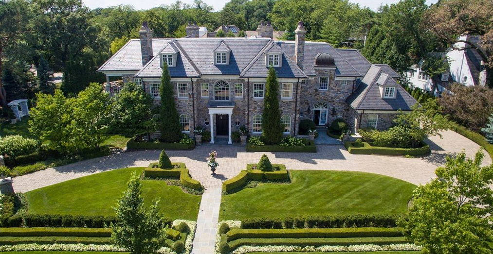 13 000 Square Foot Stone Amp Stucco Mansion In Hinsdale