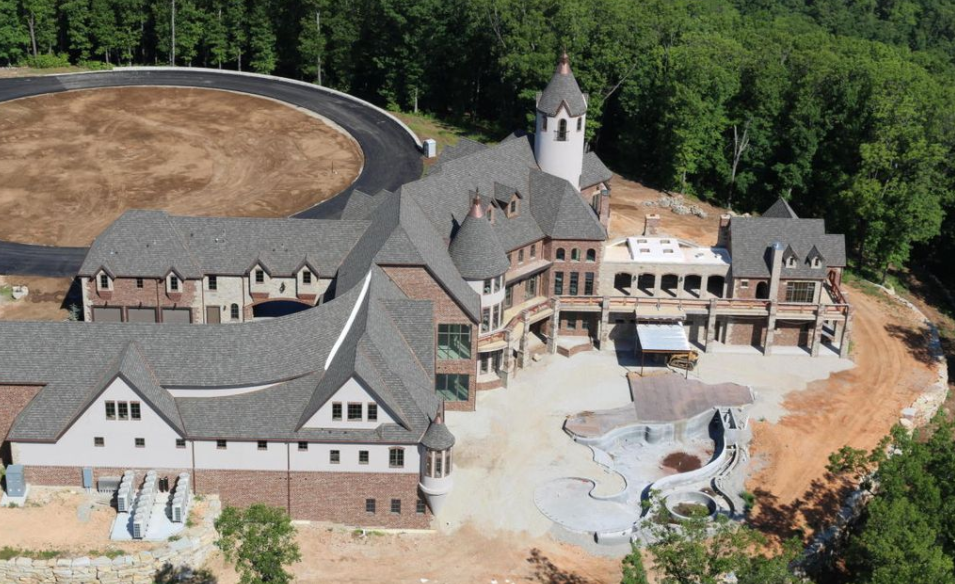 31 000 Square Foot Newly Built Lakefront Mega Mansion In