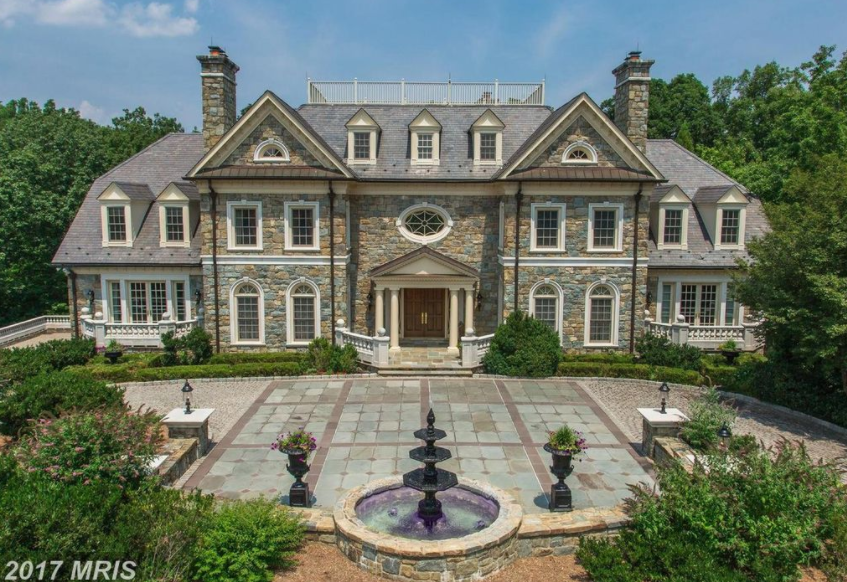 16 000 Square Foot Georgian Stone Mansion In Mclean