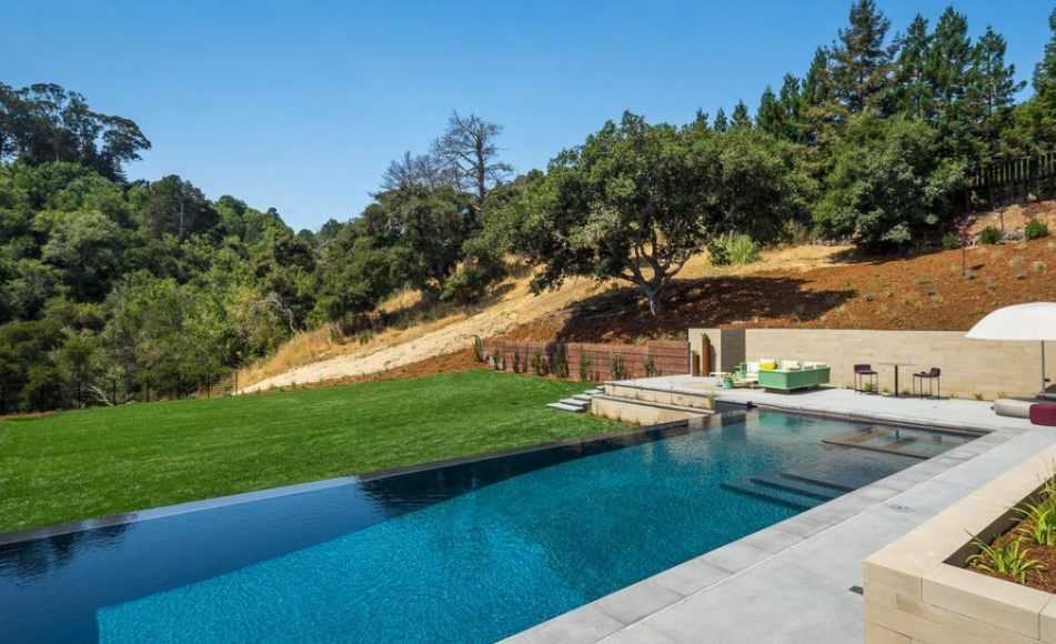 13 8 million newly built contemporary style home in hillsborough california homes of the rich for Hillsborough swimming pool prices