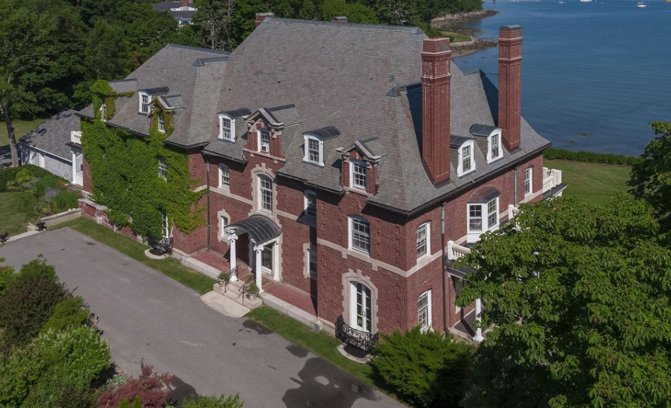 Historic Waterfront Brick Mansion In Bar Harbor, Maine ...