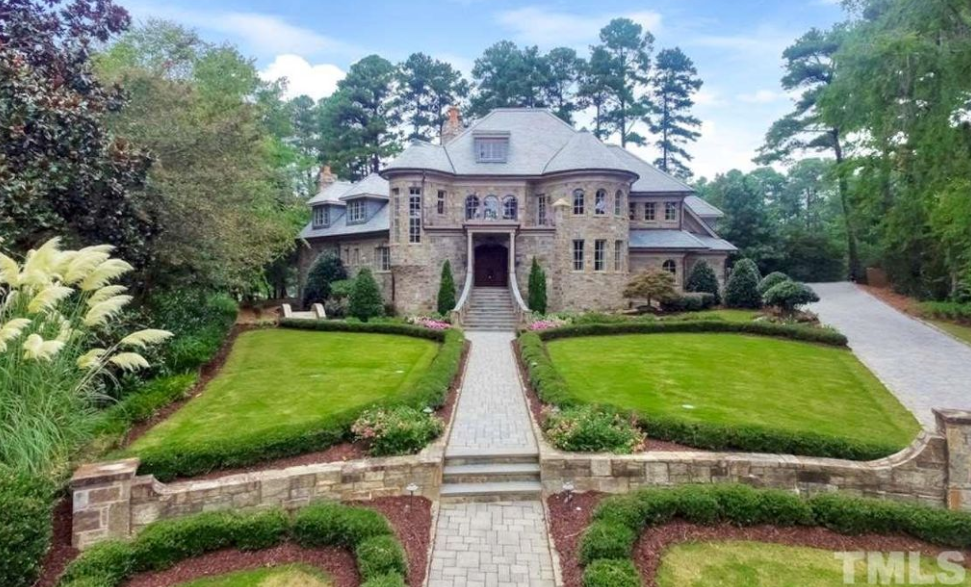 European style stone mansion in cary north carolina for European style home builders