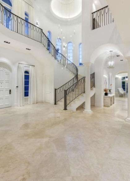 15 000 square foot lakefront mansion in boca raton - Living room movie theater boca raton ...