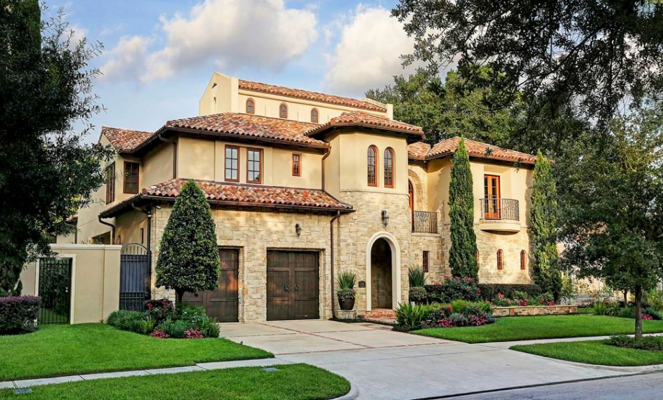 Million mediterranean style home in houston texas Mediterranean style homes houston
