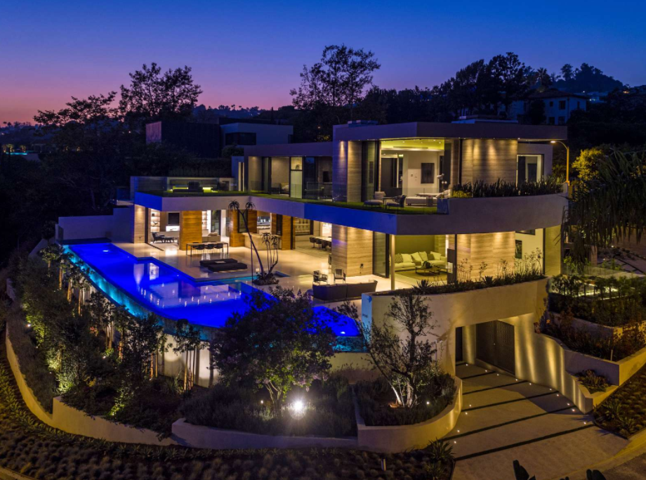 Million Newly Built Mansion Beverly Hills California Homes The Rich