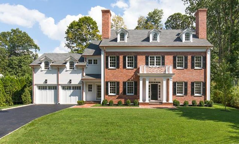 Newly built georgian brick colonial style home in Colonial style homes floor plans