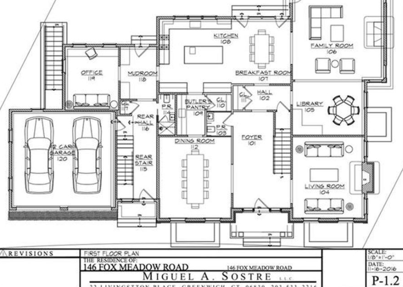 Newly Built Georgian Brick Colonial Style Home In Scarsdale New – Colonial Style Home Floor Plans